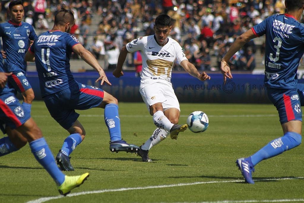Pumas y Monterrey empataron 1-1, en la jornada 5 del Clausura 2019, en el Estadio Olímpico Universitario