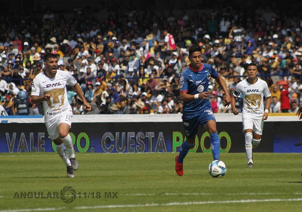 Pumas y Monterrey empataron 1-1, en la jornada 5 del clausura 2019 en el Estadio Olímpico Universitario 1
