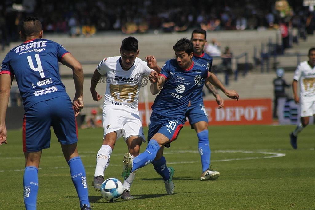 Pumas y Monterrey empataron 1-1 en la jornada 5 del clausura 2019 en el Estadio Olímpico Universitario