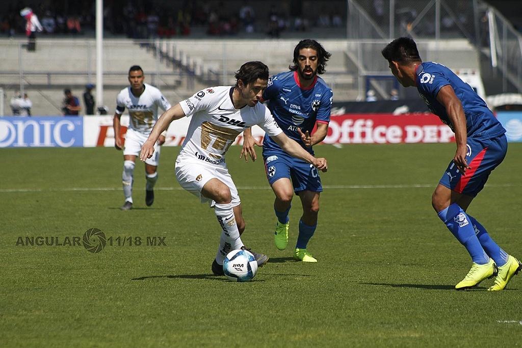 Pumas y Monterrey empataron 1-1, en la jornada 5 del clausura 2019 en el Estadio Olímpico Universitario
