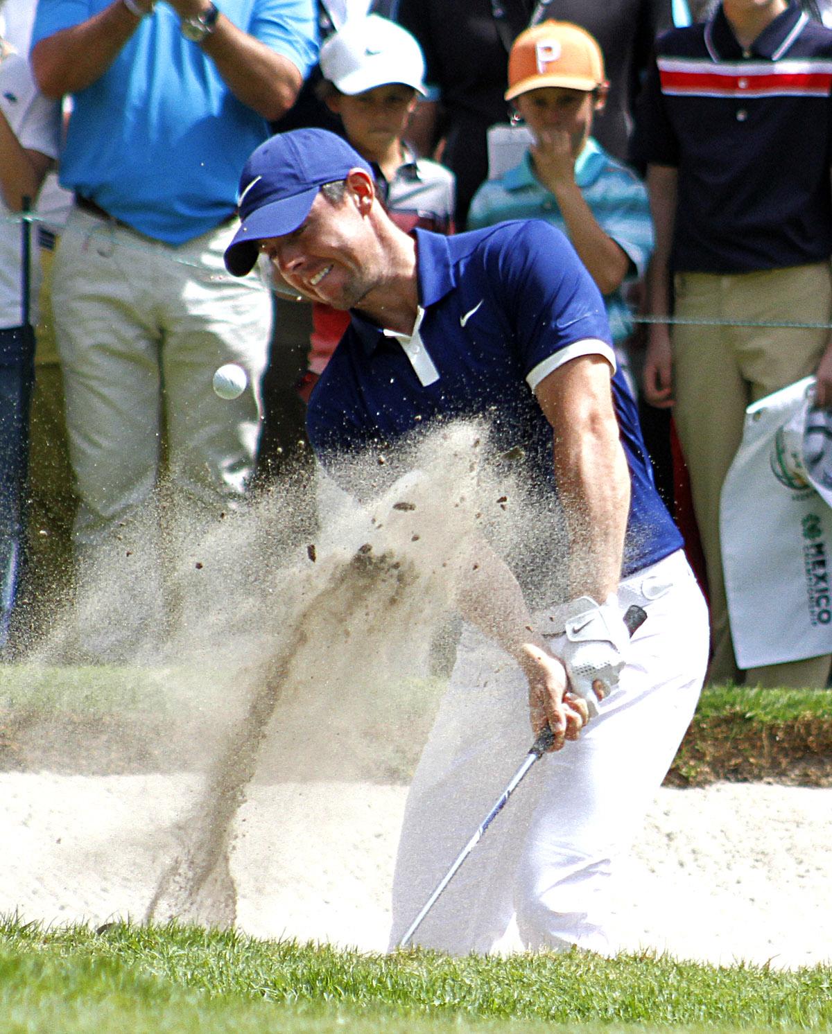 Rory Mcllroy de Irlanda del Norte en la tercera ronda del World Golf Championships, México Championships 2019