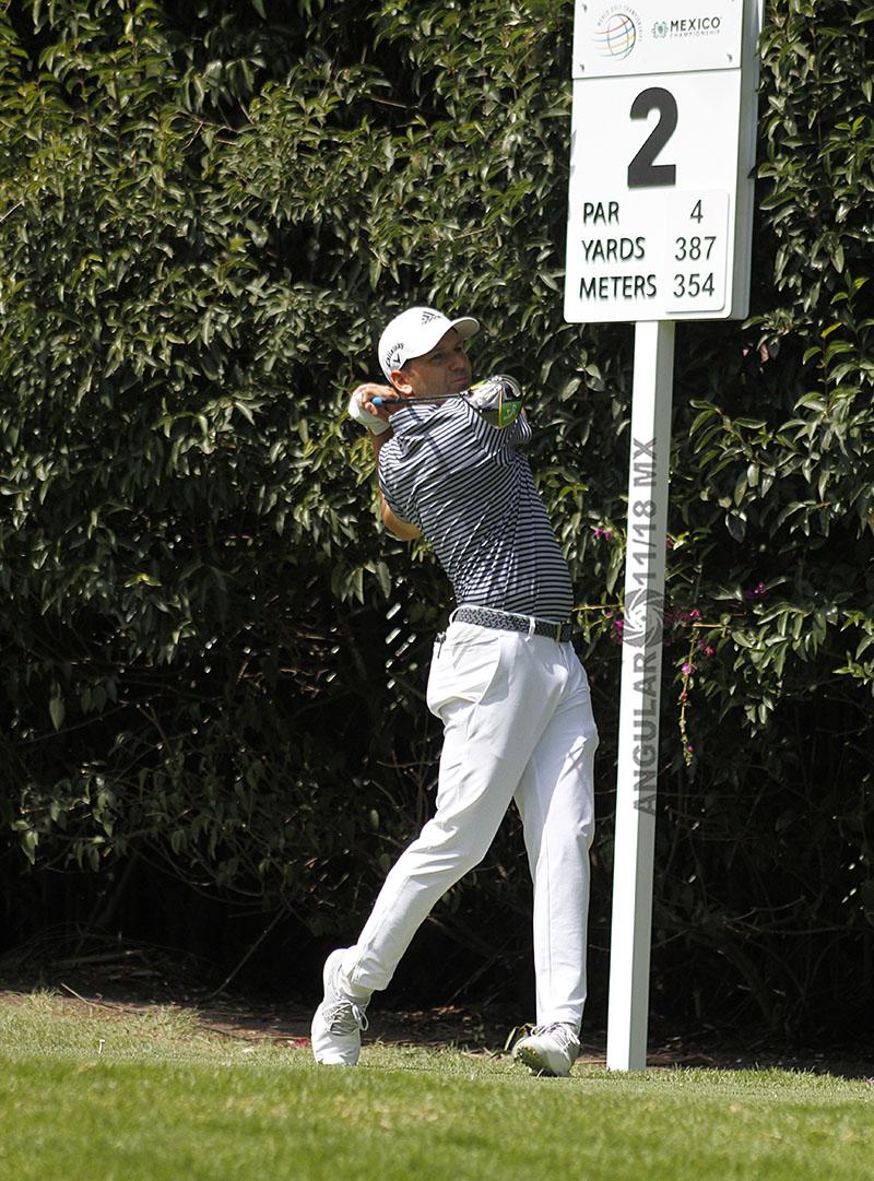 Sergio Garcia de España, en la tercera ronda del World Golf Championships México 2019