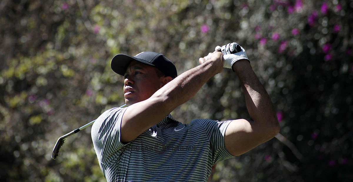 Tiger Woods en la Practica de tiro México Championship