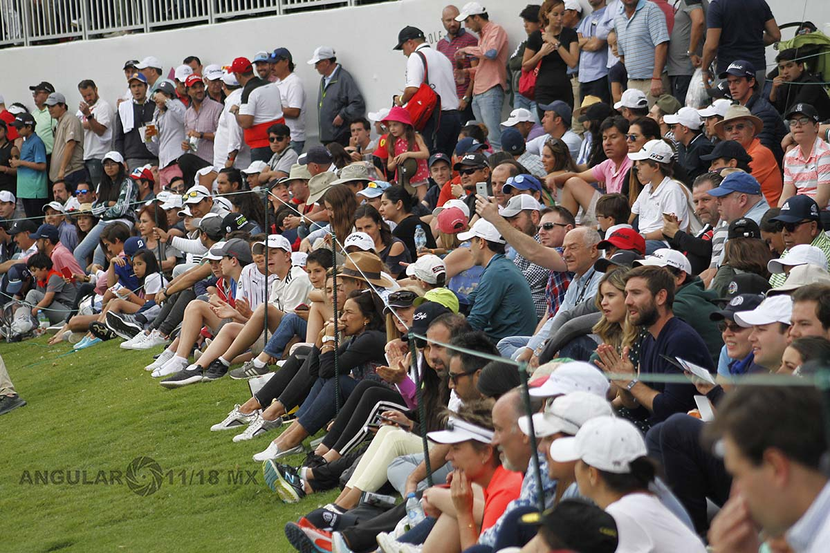 espectadores en la gran final del World Golf Championships México 2019 en el Club de Golf Chapultepec