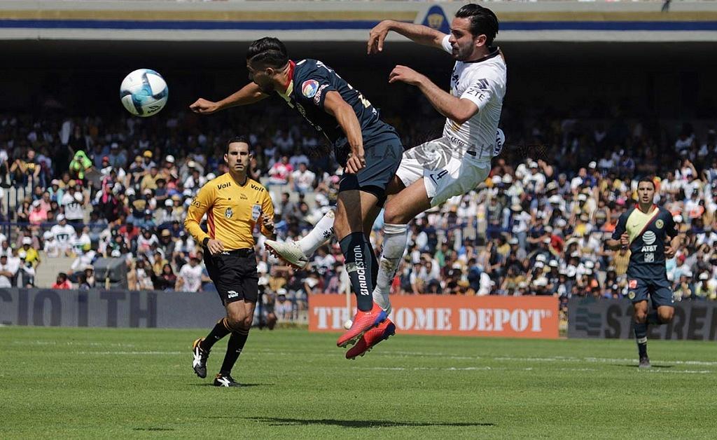 jugada dividida entre Pumas y América en la jornada 7 del clausura 2019