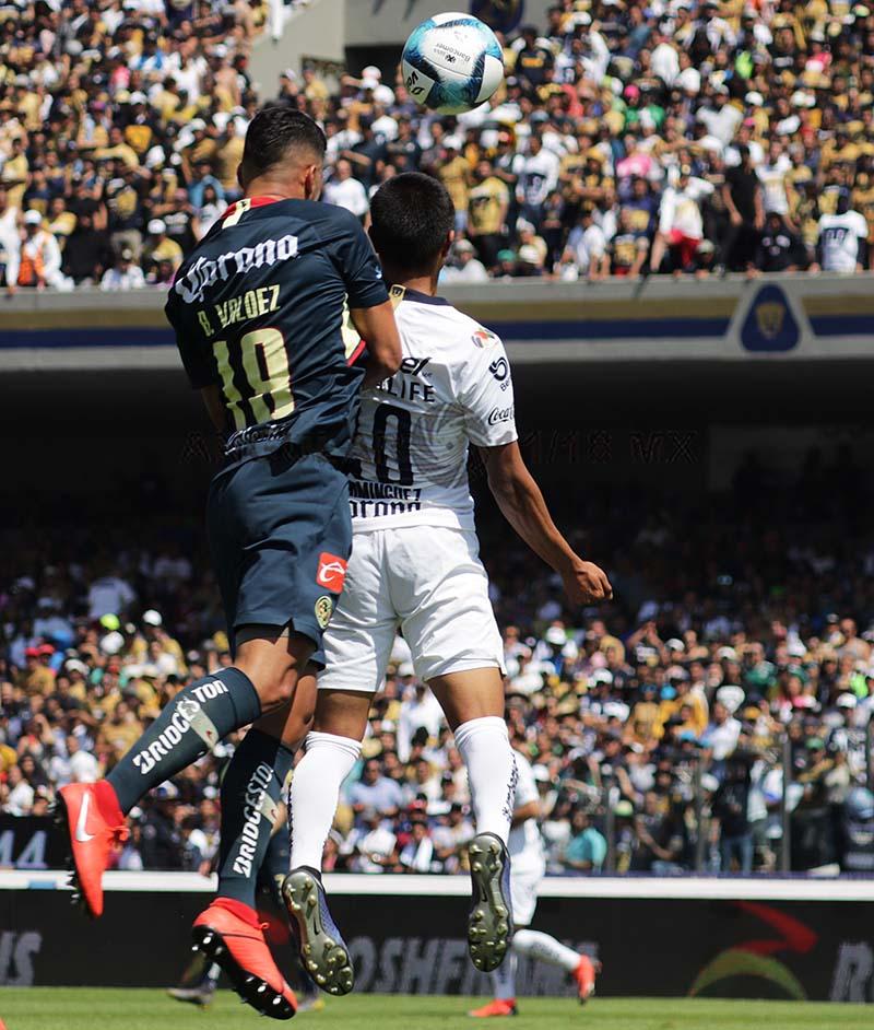 jugada dividida entre Pumas y América en la jornada 7 del torneo de la liga mx clausura 2019
