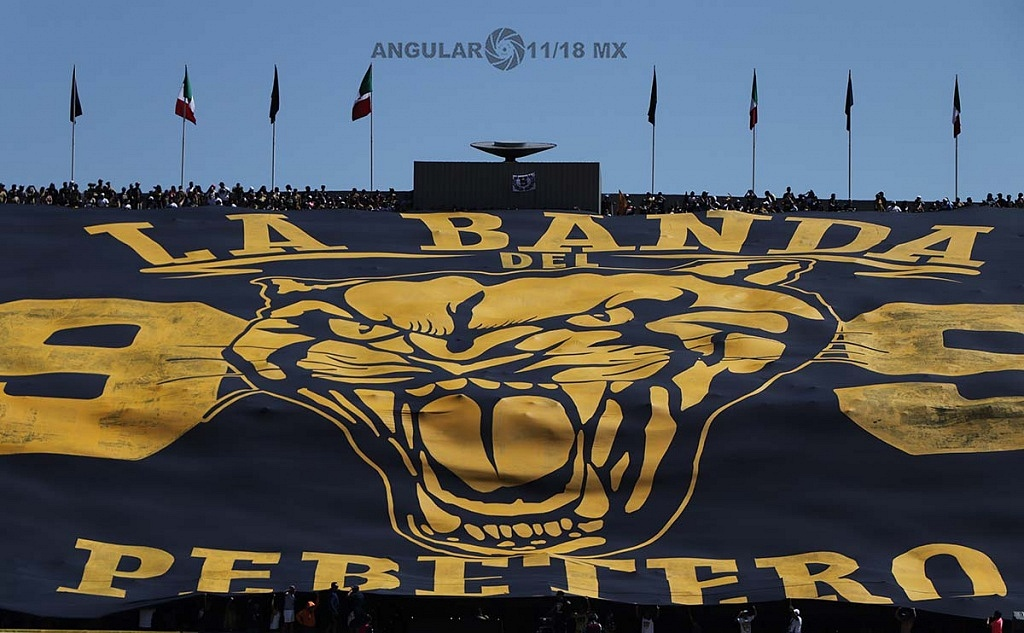 manta monumental mostrada durante el encuentro de Pumas frente América de la jornada 7 del torneo de clausura 2019
