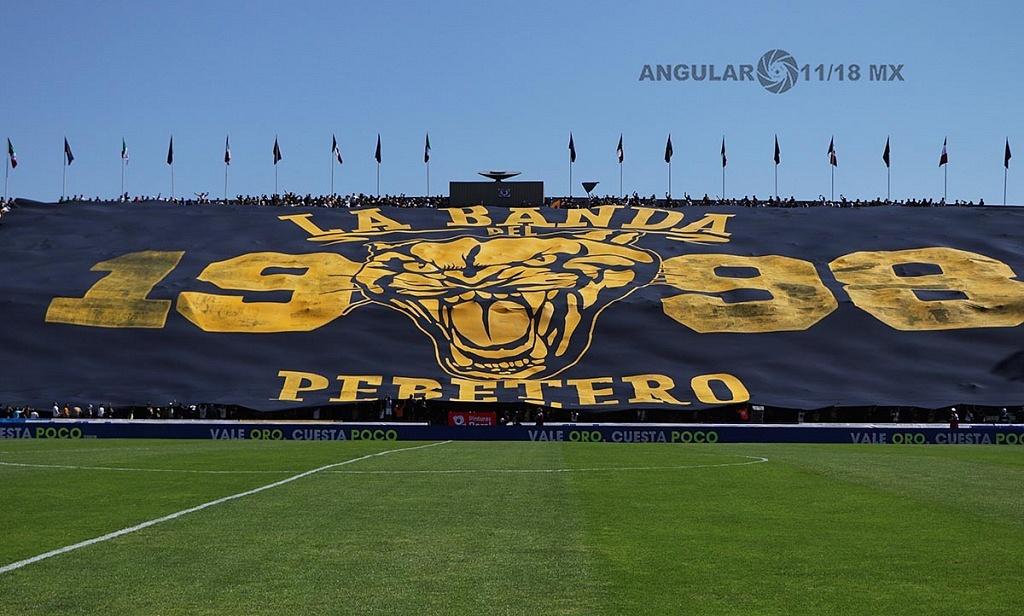 manta monumental mostrada durante el encuentro de Pumas frente América de la jornada 7 del torneo de clausura 2019,