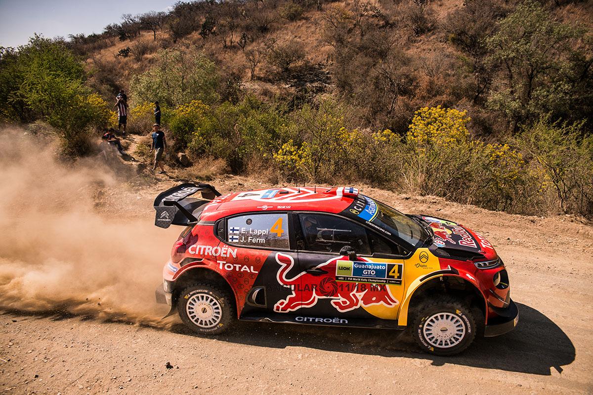 16° Rally Guanajuato México, auto numero 4 piloto E,Lappi y su copiloto J, Ferm