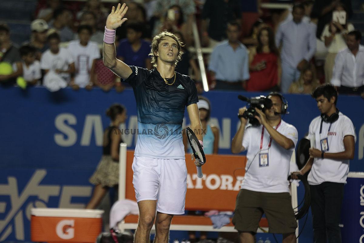 Alexander Zverev en la final del AMT al termino del encuentro
