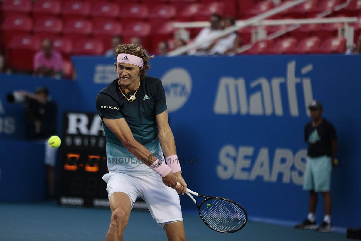 Alexander Zverev en la final del AMT (semifinales) 2019