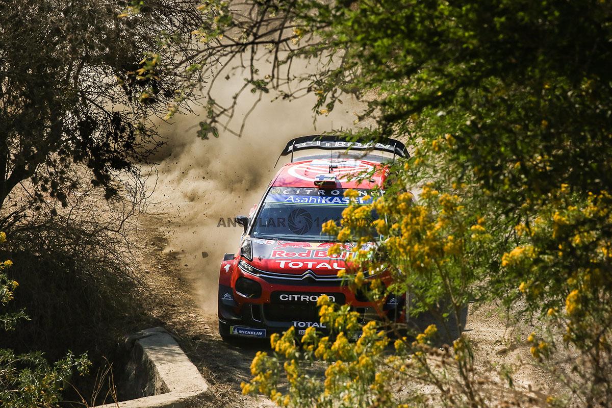 Auto del equipo Citroën Total World Rally Team, tercera fecha del mundial de rallys (16° Rally Guanajuato México)