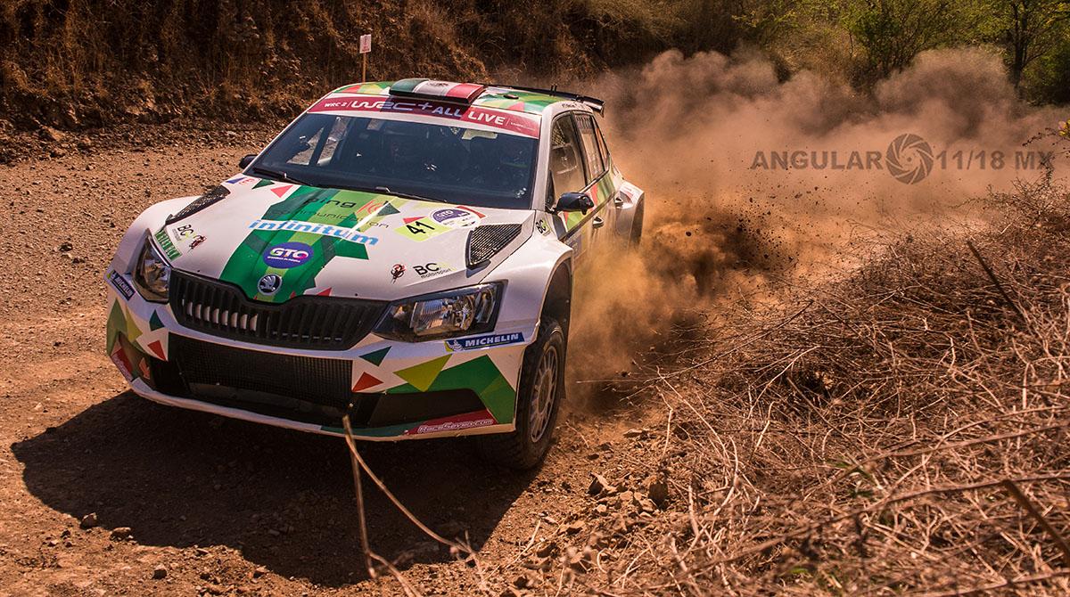 Benito Guerra en su Škoda Fabia R5, Campeonato Mundial de Rally (WRC) 16° edición del Rally Guanajuato México