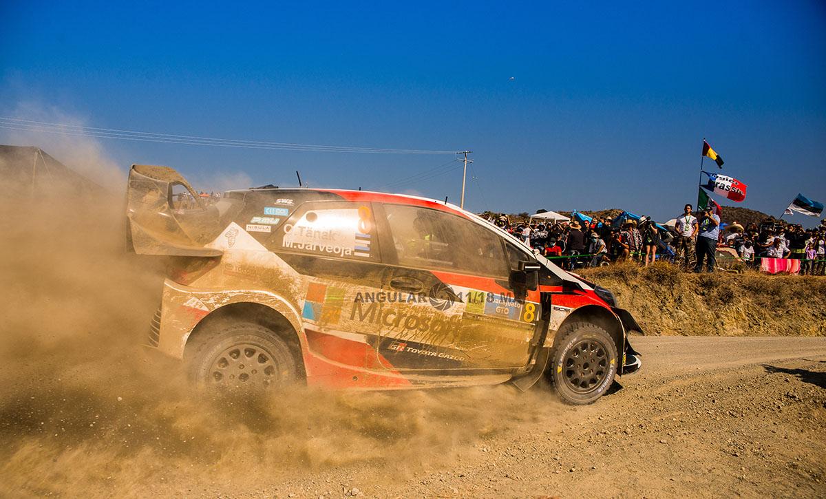 Piloto O, Tanak copiloto M, Jarveoja (Toyota Yaris WRC) Rally de Guanajuato 2019, tercera fecha del WRC