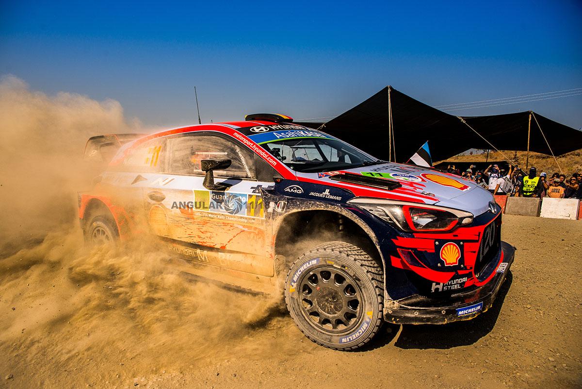 piloto D., Sordo y su copiloto C, del Barrio (Hyundai i20, Coupe WRC) Rally de Guanajuato 2019 tercera fecha del WRC