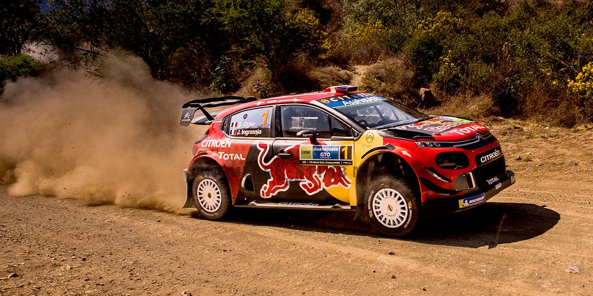 piloto S, Ogier y copiloto J, Ingrassia (Citroen Citroen C3 WRC) Rally de Guanajuato 2019, tercera fecha del WRC