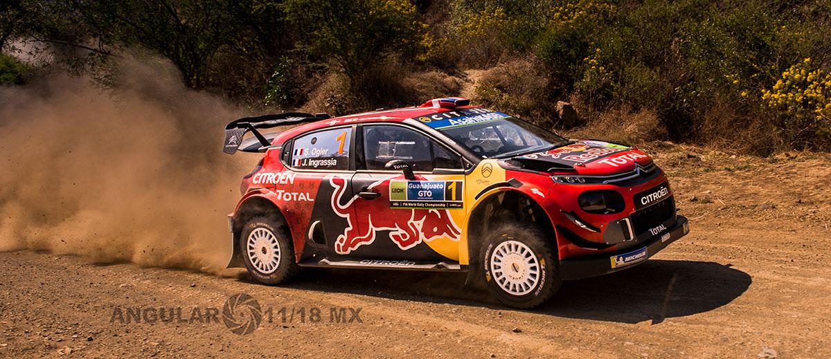 piloto Sebastian Ogier copiloto J Ingrassia (Citroen Citroen C3 WRC) Campeonato Mundial de Rally, (WRC) 16° edición del Rally Guanajuato México