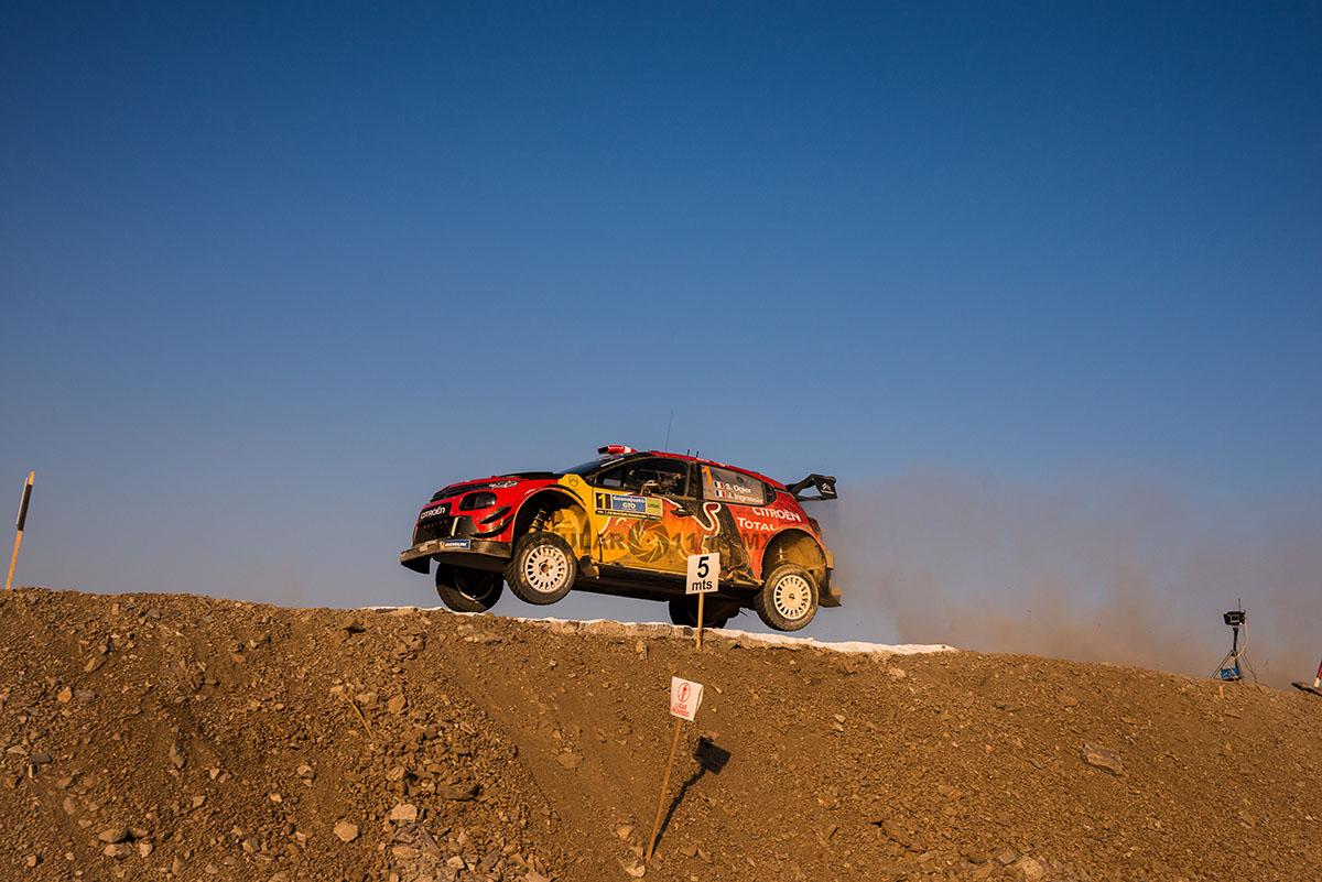 piloto Sebastian Ogier copiloto J Ingrassia (Citroen Citroen C3 WRC) Campeonato Mundial de Rally (WRC) 16° edición del Rally Guanajuato México