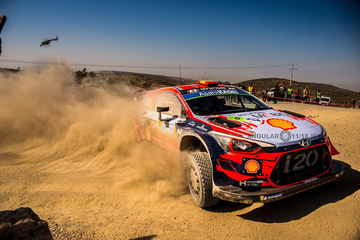 piloto T, Neuville y su copiloto N, Gilsoul (Hyundai i20, Coupe WRC) Rally de Guanajuato 2019, tercera fecha del WRC