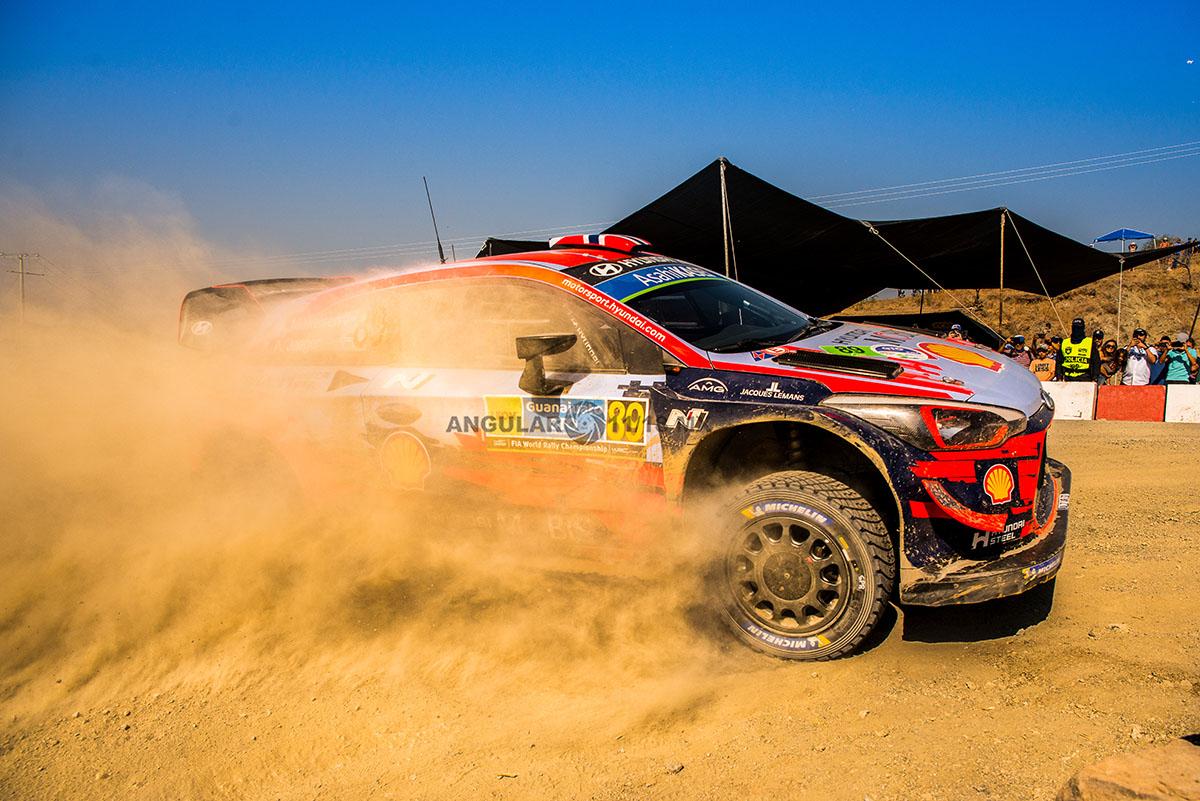 piloto T, Neuville y su copiloto N, Gilsoul (Hyundai i20 Coupe WRC) Rally de Guanajuato 2019, tercera fecha del WRC