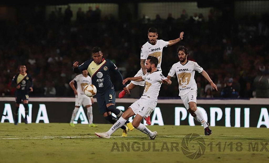 Empataron a uno los Pumas y el América, en el juego de ida de las semifinales del torneo de la liga mx apertura, 2018