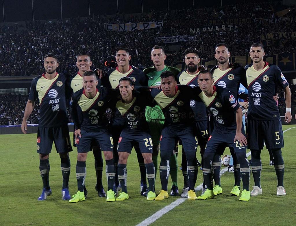 equipo titular del América en la semifinal del apertura 2018